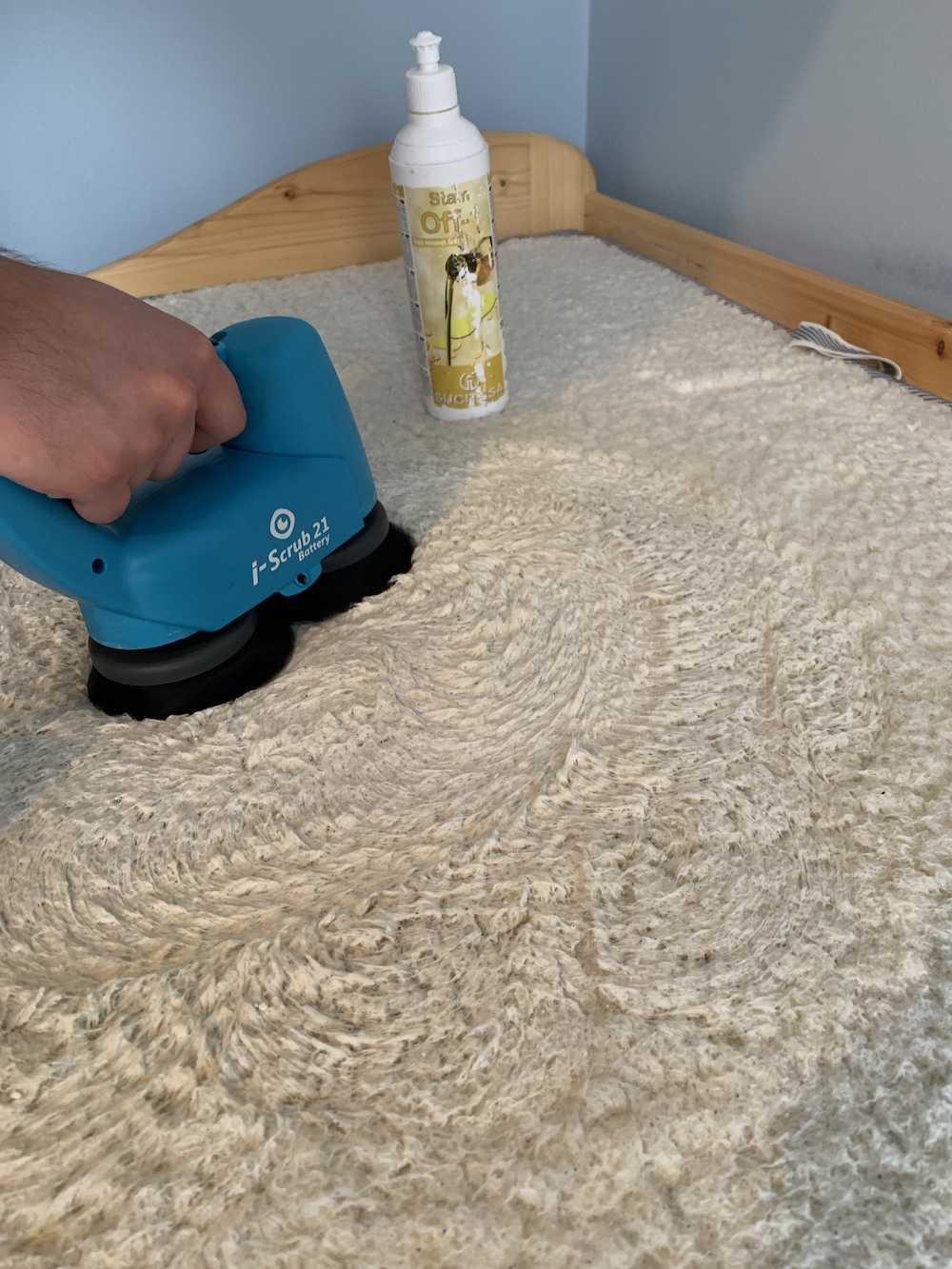 Gyapjú tetejű matracot tisztítottunk speciális eljárással!